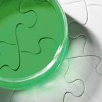 green petri dish